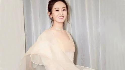 赵丽颖美飞了 脸上的雪纺妆很有料哟!