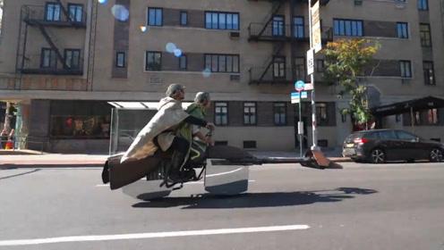 这个万圣节,美国小伙的灵魂战车终于漂浮啦