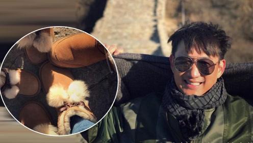 黄磊孙莉带娃爬长城 这一细节让网友大呼幸福!