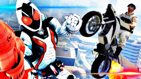 屌德斯解说 GTA5 骑着假面骑士Fourze的摩托飞向宇宙
