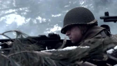 《冰雪勇士》美军与德军雪地里打阵地战,迫击炮重机枪都用上了!