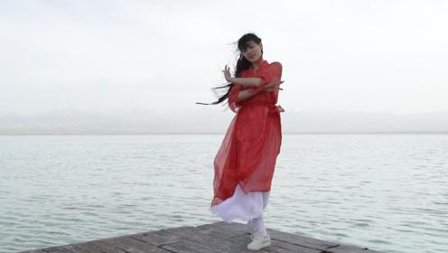美女微小微古典舞《玉生烟》,红色纱衣太带感了!