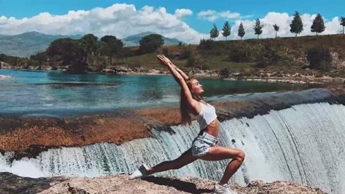 俄罗斯美女将瑜伽练到全世界 身体柔韧令人叹服