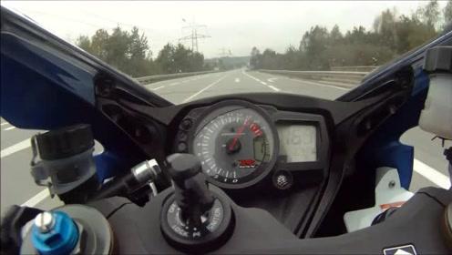 感觉要起飞了!铃木GSX-R 1000 0-300 kmh加速