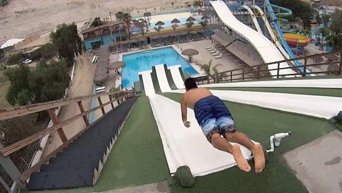 好玩到爆炸的Slip-N-Fly 名副其实的极限飞行滑梯啊!