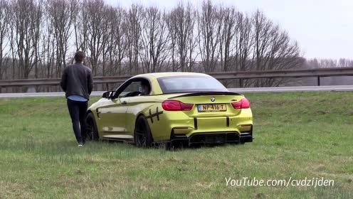 BMW M4 F83碰撞并用导管胶带固定
