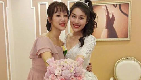 杨紫参加闺蜜婚礼收捧花 感谢十年青春彼此陪伴