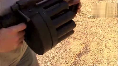 MM-1榴弹发射器,载弹十四发,扣下扳机后太霸气了!