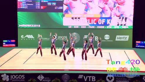 15届 世锦赛韩国有氧 舞蹈  预赛