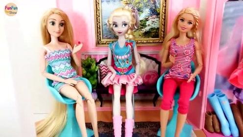 芭比要去参加生日聚会了,快来帮她们打扮一下吧