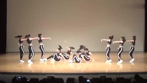 韩国女高中生舞蹈表演,别人的女同学从来不会让人失望!