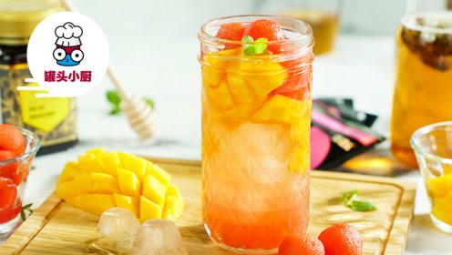 炎炎夏日,三款水果蜂蜜冷泡茶,清凉平静烦躁的内心