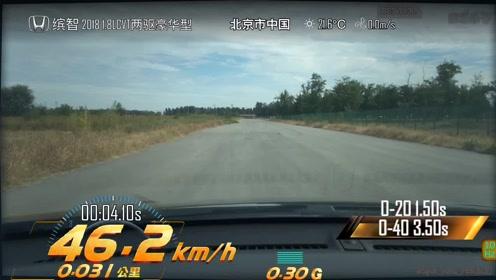 本田缤智超级评测加速测试视频