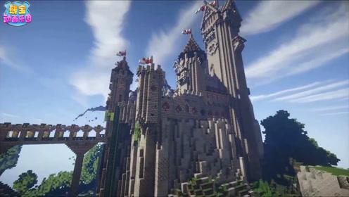 我的世界建筑延时摄影 悬崖城堡与海边暗黑城