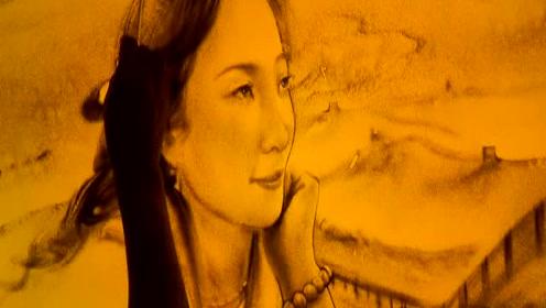 点石沙画肖像《大鱼海棠》