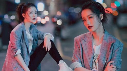 李沁米兰午夜写真大片 西装帅气神情魅惑