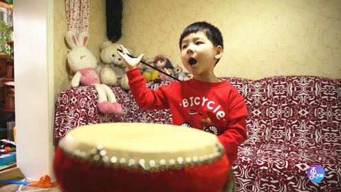 4岁萌娃天赋异禀唱大鼓,登央视舞台演唱,老腔一起惊艳全场