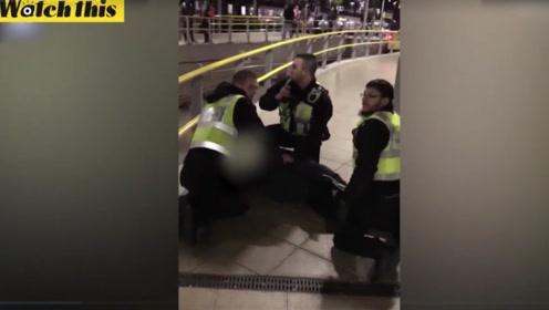 曼彻斯特发生恐袭 实拍持刀嫌犯被警方制服