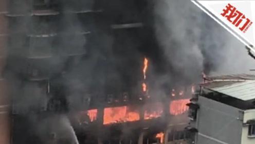 直播回看:重庆忠县一建筑失火,22人呛烟送医无生命危险