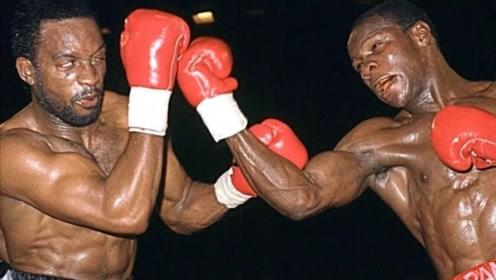 黑人拳王两记重拳打趴对手!对手单膝下跪站都站不起来