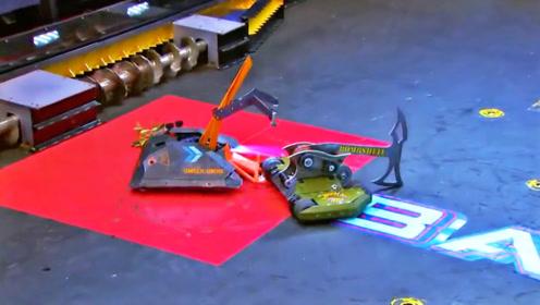 精彩,机器人比赛真残酷,斧王擂台大战火焰侠!