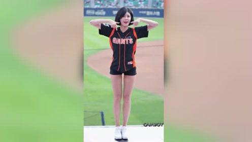 去现场看球吧,光看这位长腿体育宝贝的舞蹈就值回票价了