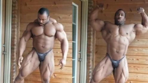 因痴迷健身吃成265斤肌肉巨兽,这位美国大兵,坦言生活比健美重要