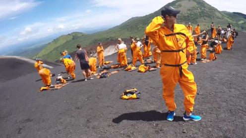 """你了解""""火山滑板""""吗?从活火山上滑行700米,真的是太刺激了!"""