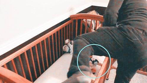 女儿半夜被噩梦吓醒,监控拍下爸爸这个举动,妈妈都暖哭了