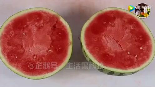 你肯定没吃过这样的西瓜,赶紧动手来做一个吧
