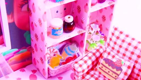 芭比娃娃手工diy,教你用微塑品做个精致的闺房!