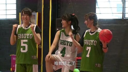 SNH48成员莫莫看到对手投不进,一脸笑嘻嘻的说出话,太可爱了吧!
