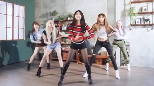 乐华新女团翻跳韩国女团代表曲,黑丝领队超甜美,一个眼神就被撩到