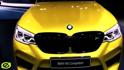 新款宝马M5黄色款高清实拍,外观高清实拍,网友:行走中的艺术品!