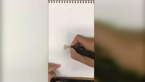 不知道画什么的我,跟下风画了个鸭子! 你们觉得可以吗?