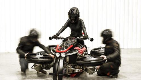 能飞能跑的摩托车,4组喷气引擎,让你体验一把骑士的感觉!