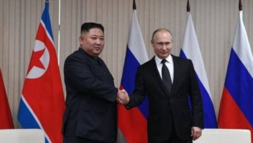 普京与金正恩首度会晤 握手后俩人都说了这句话图片