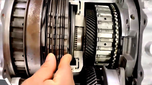 3D演示汽车机械齿轮内部结构的工作原理!