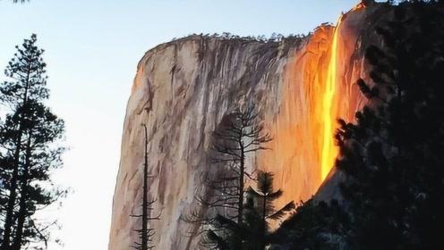 """堪称自然的奇迹!美国""""火""""瀑布闻名世界,现场画面令人叹为观止"""