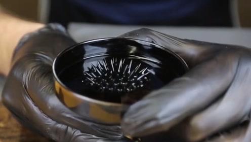 磁流体若是遇见液氮,就像施了魔法似的,画面太美了