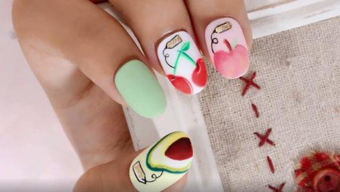 夏日清爽俏皮水果美甲 从手指开始美丽吧