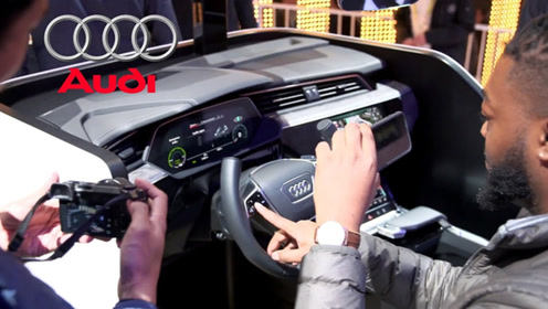 科技控奥迪是怎么治晕车的?VR体验坐车太刺激,哪儿还有空晕车
