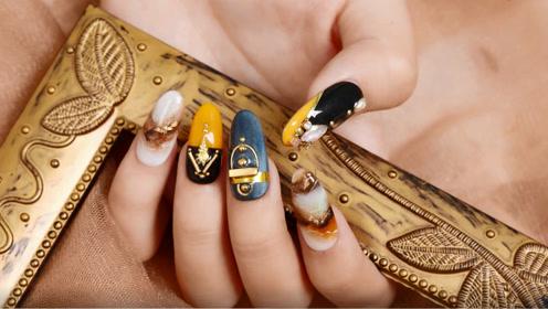优雅华贵棕色系晕染美甲 都市时尚女孩手指必选