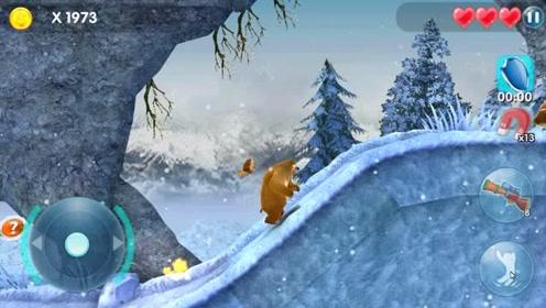 熊出没山上大雪纷飞,熊二出发保护森林把变异鸟消灭