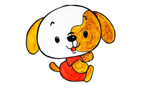 可爱小狗的画法