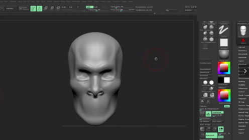 zbrush写实人物模型雕刻制作教程1