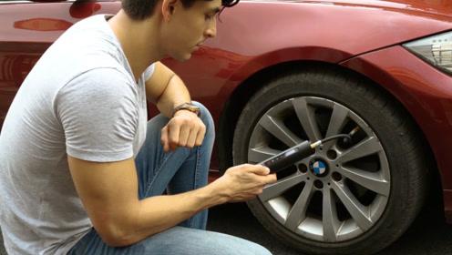 老外的高科技打气筒,只有手电那么大,却能给汽车轮胎打气
