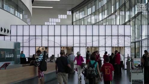 机场装置艺术,与50亿人天涯共此时