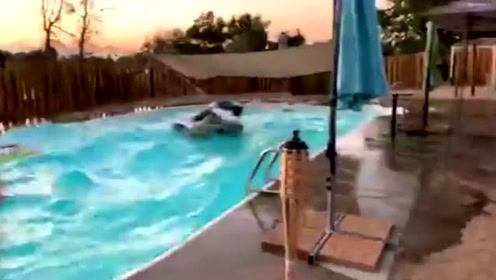 7.1级地震有多恐怖?泳池都快发生海啸了!