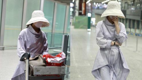 赵丽颖产后现身机场包裹严实 独自推行李未见老公冯绍峰